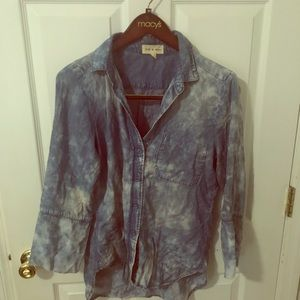 Anthropologie acid washed jean Shirt Small
